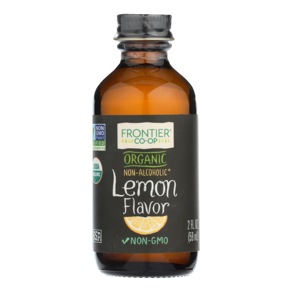 Frontier Herb Lemon Flavor - Organic - 2 oz Pack of 3