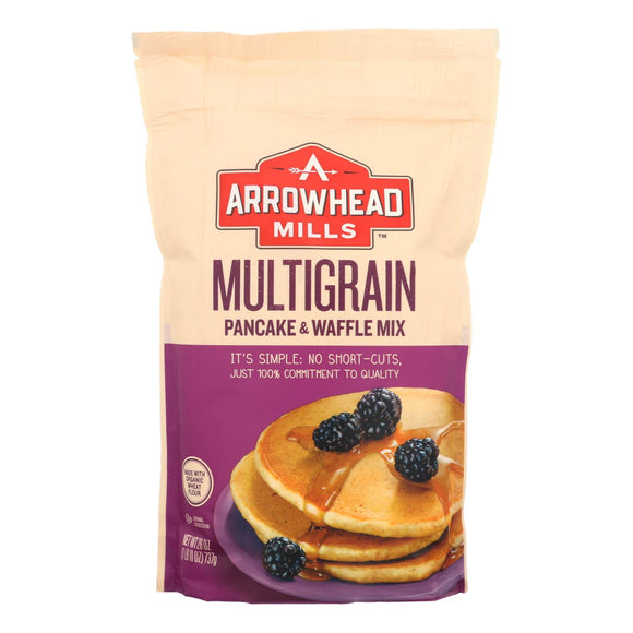 Arrowhead Mills - Pancake and Waffle Mix - Natural Multigrain - Case of 6 - 26 oz.