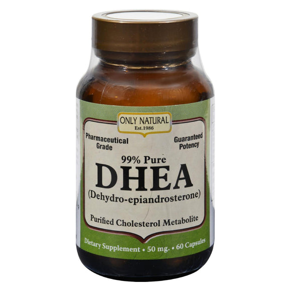Only Natural DHEA - 50 mg - 60 Capsules Pack of 3