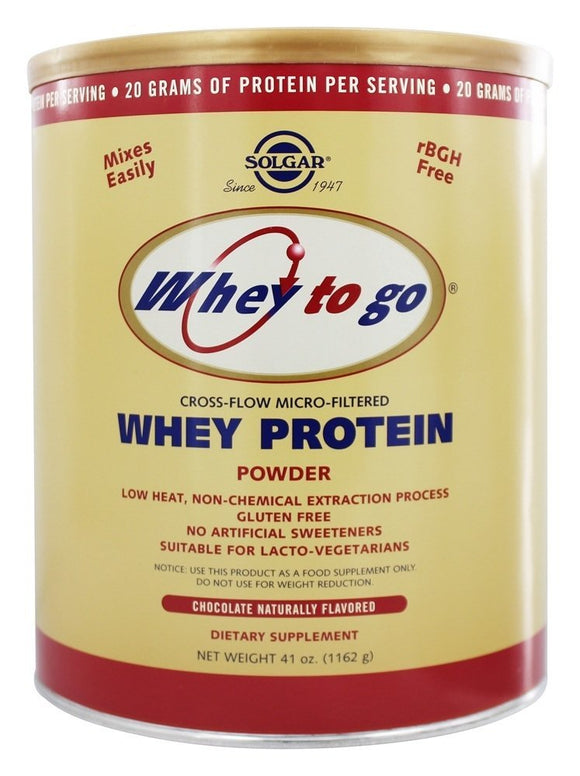 Whey To Go® Protein Powder* Natural Chocolate Flavor 41 oz Pack of 3