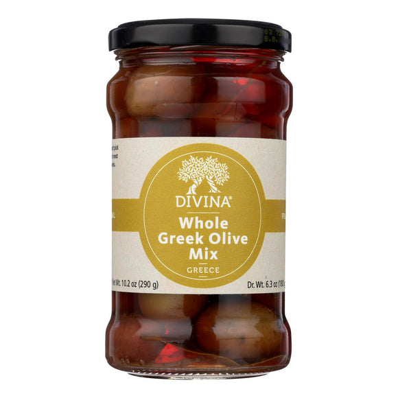 Divina - Greek Olive Mix - Case of 6 - 6.36 oz.
