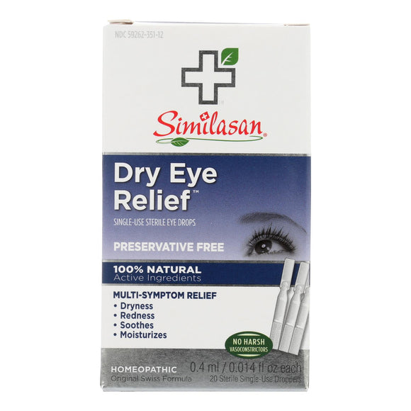Similasan Dry Eye Relief - 20 Sterile Single-Use Droppers Pack of 3