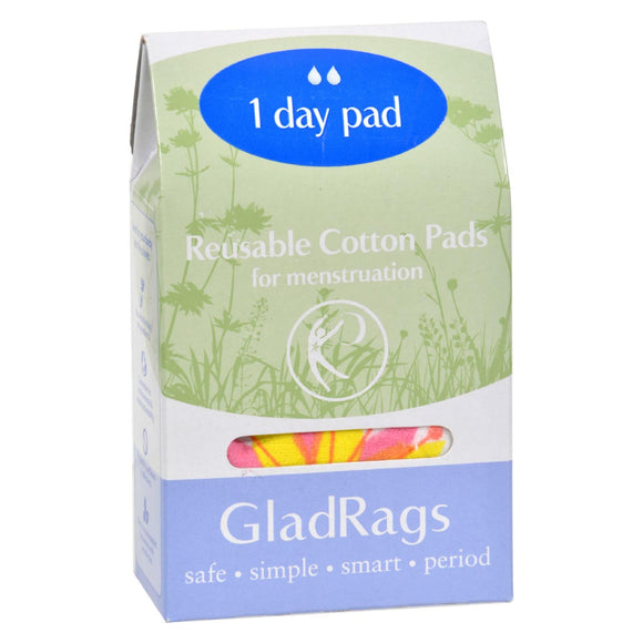 Gladrags Color Cotton Day Pad - 1 Pack Pack of 3
