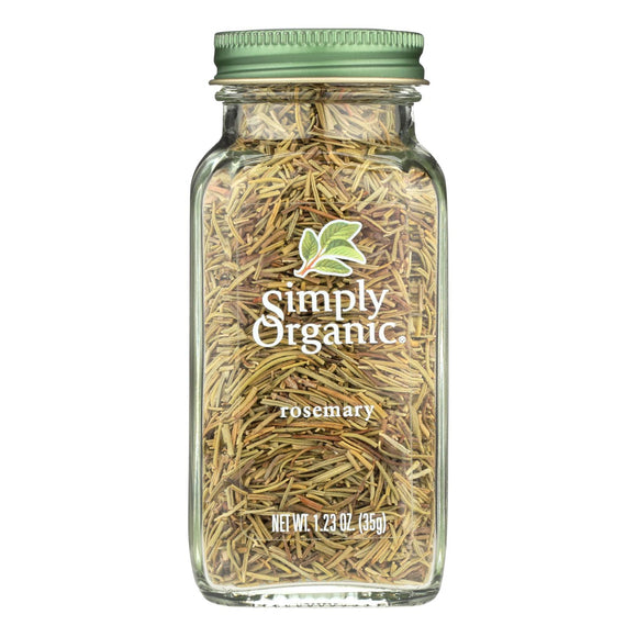 Simply Organic Rosemary Leaf- Organic - Whole - 1.23 oz Pack of 3