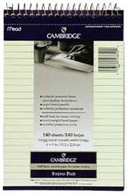 Camb Steno Book 140Ct/Stiff Pack of 3
