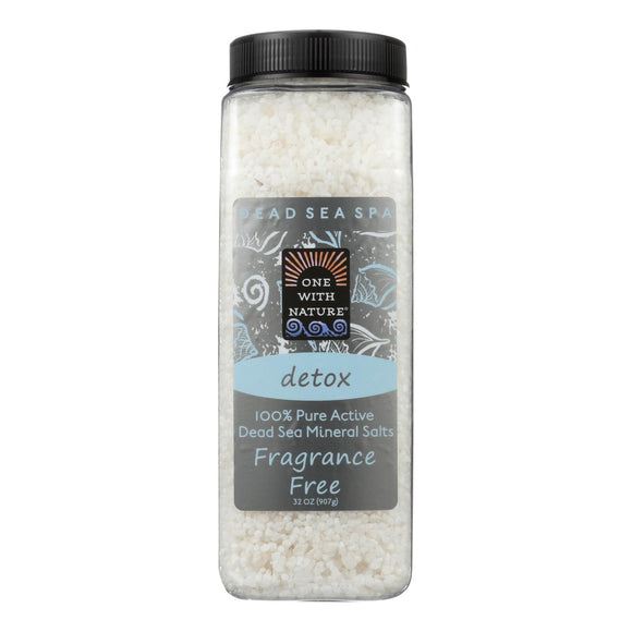 One With Nature Bath Salts - Dead Sea Mineral - Fragrance Free - 32 oz Pack of 3