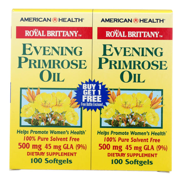 American Health - Royal Brittany Evening Primrose Oil 100+100 Softgels Pack of 3