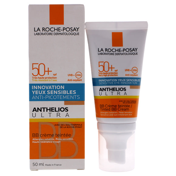 Anthelios Ultra Tinted BB Cream SPF 50 by La Roche-Posay for Unisex - 1.7 oz Makeup Pack of 3