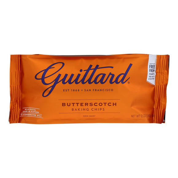 Guittard Chocolate Chips - Butterscotch - Case of 12 - 12 oz.