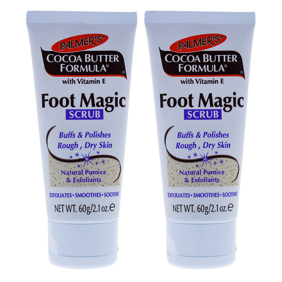 Cocoa Butter Foot Magic Scrub by Palmers for Unisex - 2.1 oz Scrub - Pack of 2 Pack of 3