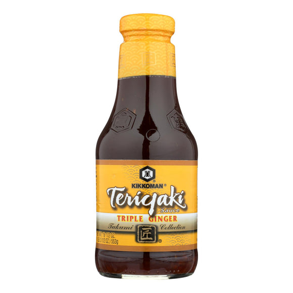 Kikkoman Sauce - Teriyaki - Triple Ginger - Case of 6 - 19.5 fl oz