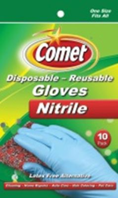 Comet Dispos Nitrile Glvs 10Ct Pack of 6