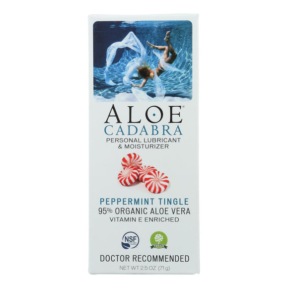 Aloe Cadabra Personal Lubricant - Peppermint - 2.5 oz. Pack of 3