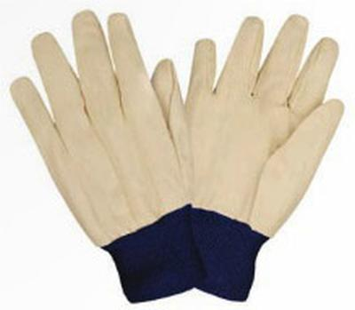 Glove White Canvas Blu Wrist Pack of 6