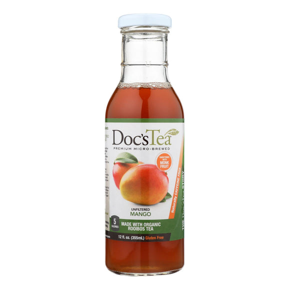 Doc's Tea - Tea - Mango - Case of 12 - 12 fl oz.
