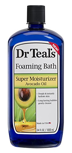 Dr Teals Ultra Moisturizing Foaming Bath Super Moisturizer Avocado Oil 34 Fl Oz Pack of 12