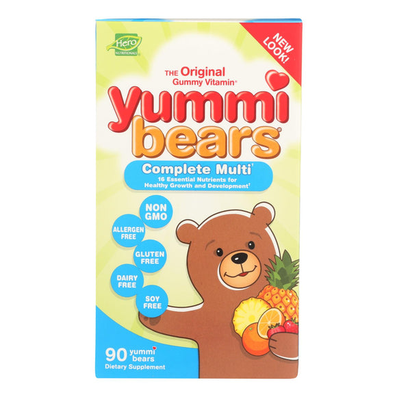 Hero Nutritionals Yummi Bears Multi-Vitamin and Mineral Fruit - 90 Gummies Pack of 3