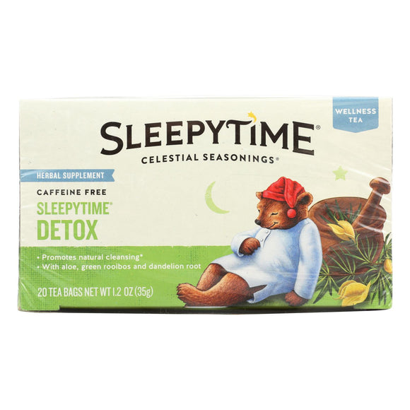 Celestial Seasonings - Tea - Sleepytime Detox - Case of 6 - 20 Bags