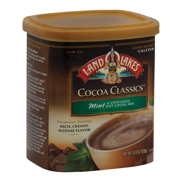 Land O Lakes Cocoa Classics - Mint and Chocolate - Case of 6 - 14.8 oz.