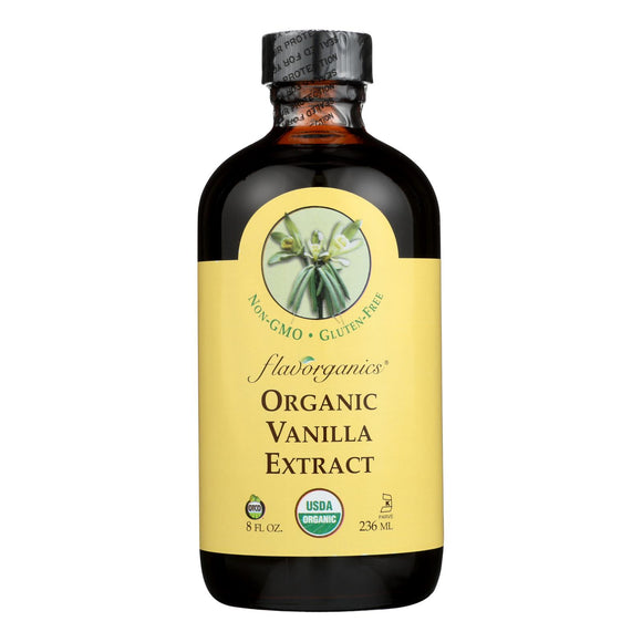 Flavorganics Organic Vanilla Extract - 8 oz Pack of 3