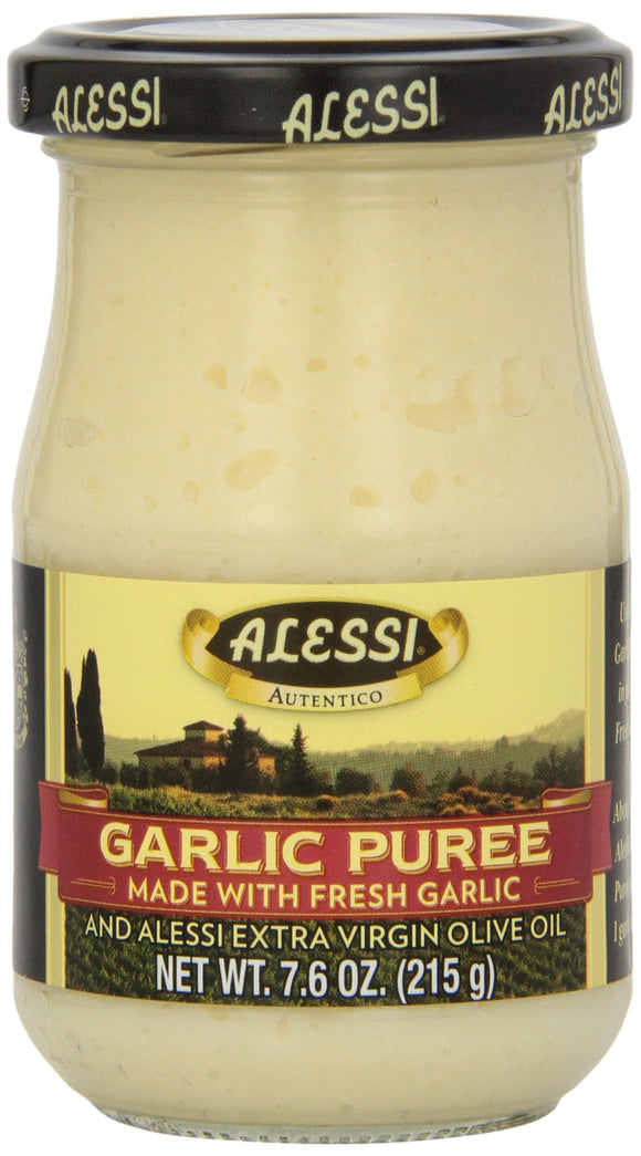 Alessi - Puree - Garlic - Case of 6 - 7.6 oz