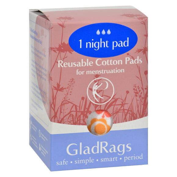 Gladrags Color Night Time Pads - 1 Pack Pack of 3