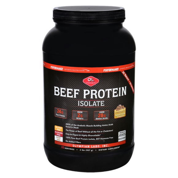 Olympian Labs Beef Protein Isolate - Chocolate - 2 lb Pack of 3