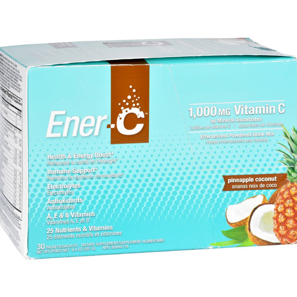 Ener-C - Pineapple Coconut - 1000 mg - 30 Packets Pack of 3