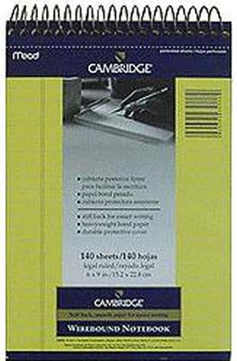 Camb Book 6X9 Spiral Yel St Pack of 3
