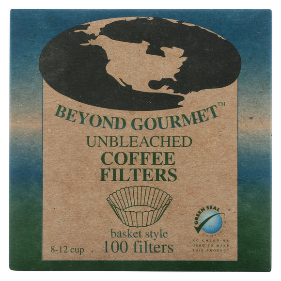 Beyond Gourmet Coffee Filters - Basket - Unbleached - 100 Count Pack of 3