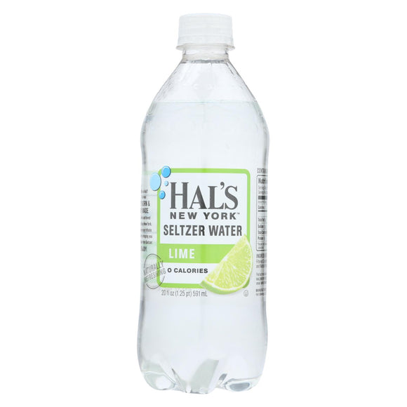 Hal's New York Seltzer Seltzer Water - Case of 24 - 20 FZ