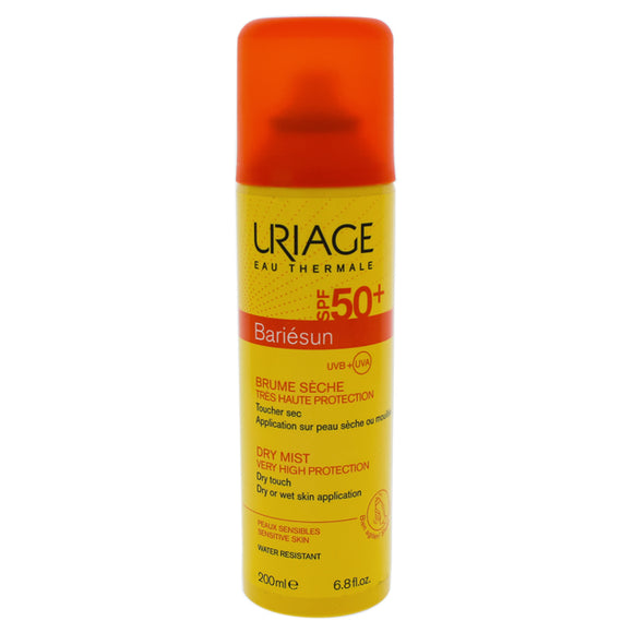 Bariesun Dry Mist SPF 50 by Uriage for Unisex - 6.8 oz Sunscreen Pack of 3