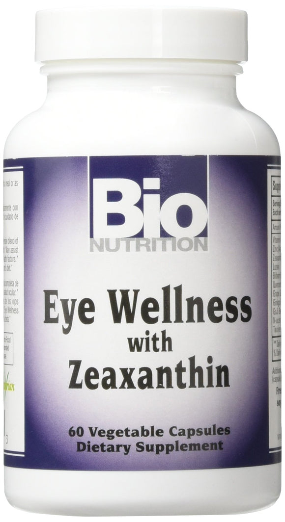 Bio Nutrition - Inc Eye Wellness with Zeaxanthin - 60 Vegetarian Capsules Pack of 3
