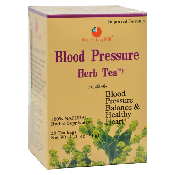 Health King Blood Pressure Herb Tea - 20 Tea Bags Pack of 3