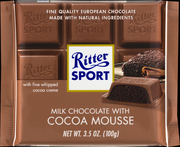 Ritter Sport Milk Chocolate With Cocoa Mousse - Case of 11 - 3.5 OZ