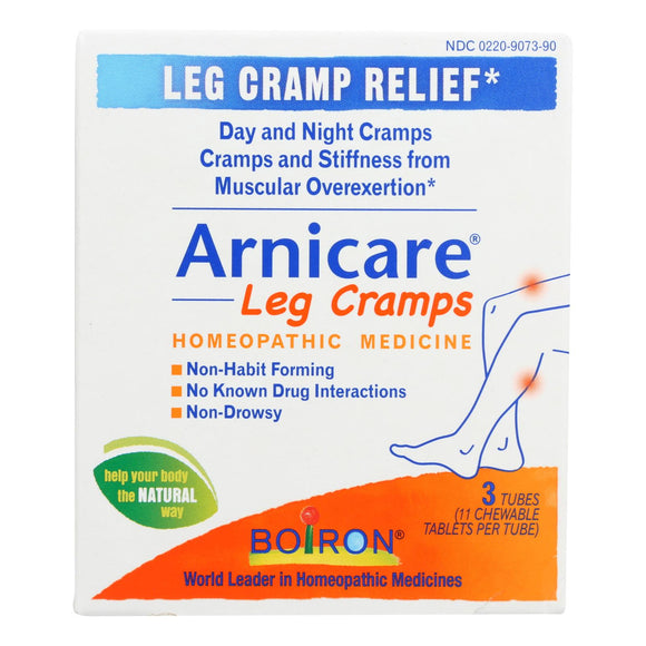 Boiron - Arincare Leg Cramp Relief - Tablets - 3 Tubes Pack of 3