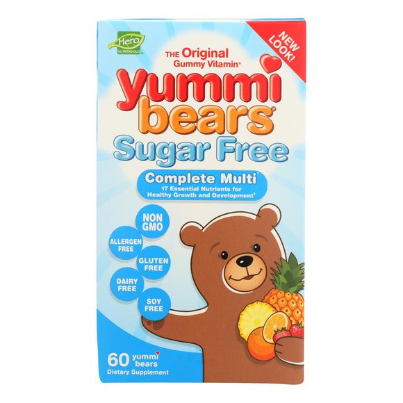 Hero Nutritionals Yummi Bears Multi-Vitamin and Mineral Sugar Free - 60 Yummi Bears Pack of 3