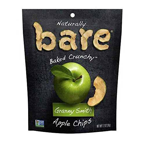Bare Fruit - Apple Chips - Granny Smith 6 Count - Case of 6 - 1.40 oz.