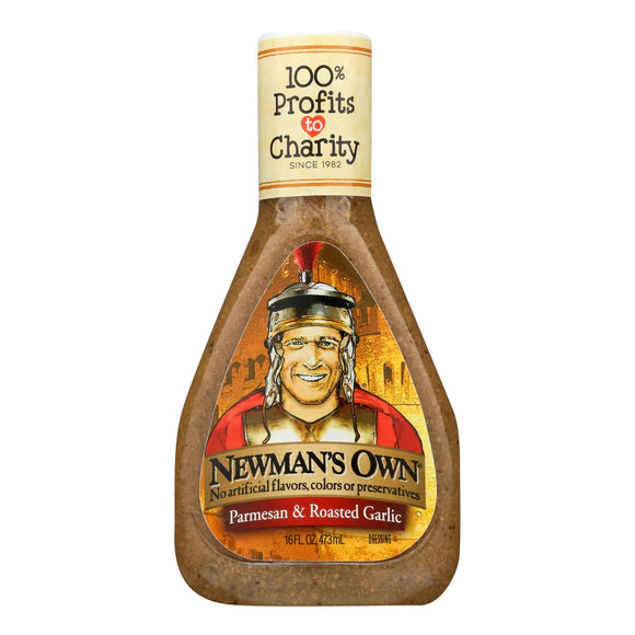 Newman's Own Dressing - Parmesan Roasted Garlic - Case of 6 - 16 fl oz
