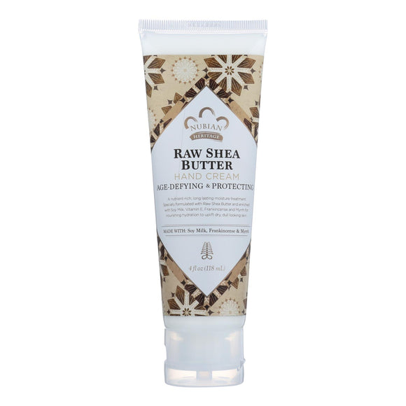 Nubian Heritage Hand Cream - Raw Shea with Frankincense - 4 oz Pack of 3