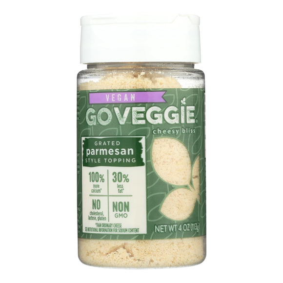 Go Veggie! Grated Parmesan Style Topping Cheesy Bliss - 1 Each - 4 OZ Pack of 3