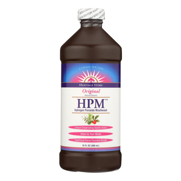 Heritage Products HPM Hydrogen Peroxide Mouthwash - 16 fl oz Pack of 3