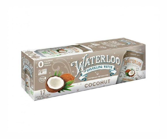 Waterloo - Sparkling Water Coconut - Case of 2 - 12/12 FZ