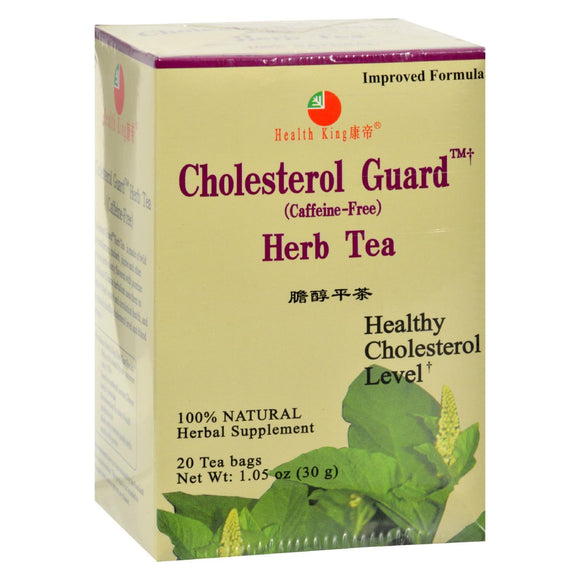 Health King Cholesterol Guard Herb Tea - 20 Tea Bags Pack of 3