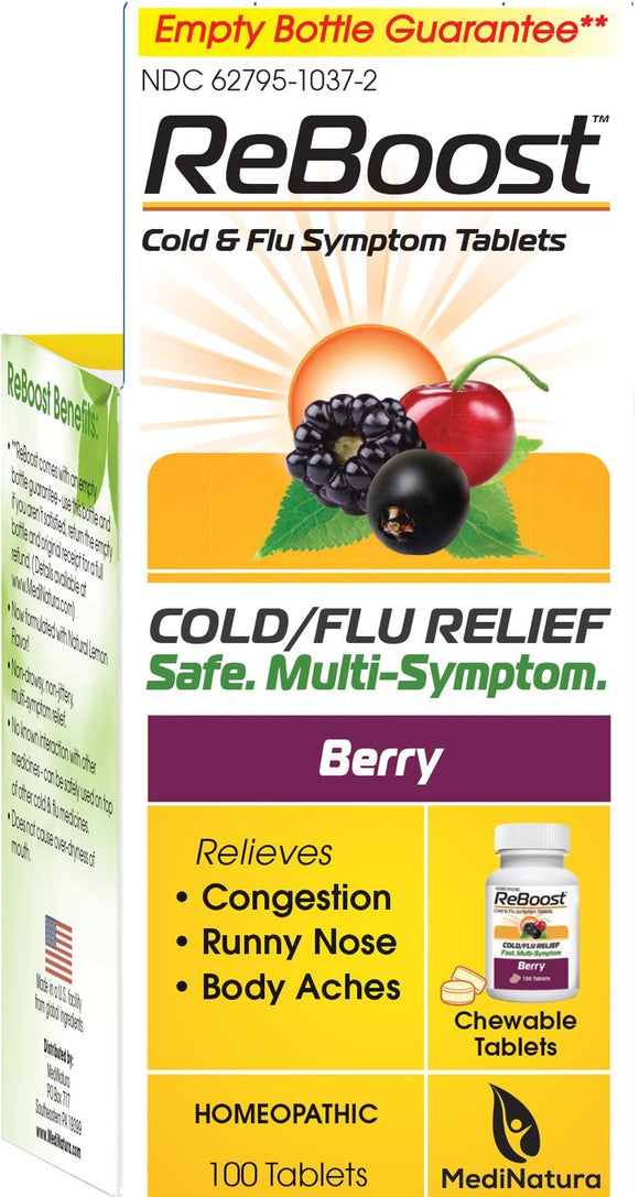 Reboost Cold Flu Relief Tablets - 100 Tablets Pack of 3