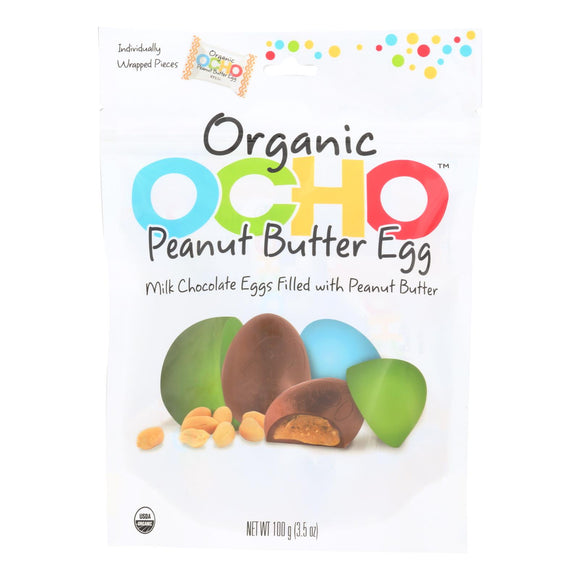 Ocho Candy Peanut Butter Egg - Case of 12 - 3.5 oz.