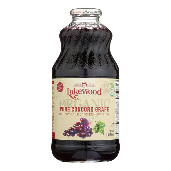 Lakewood - Organic Juice - Concord Grape - Case of 6 - 32 fl oz.