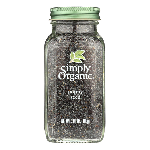 Simply Organic Poppy Seed - Organic - Whole - 3.81 oz Pack of 3