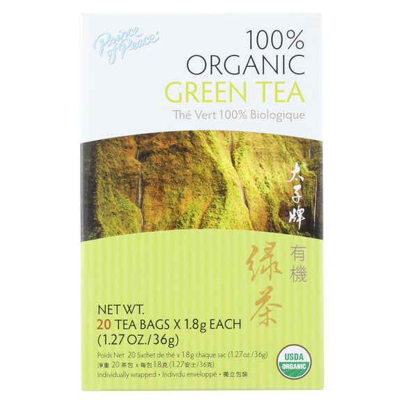 Prince of Peace Organic Green Tea - 20 Tea Bags Pack of 3