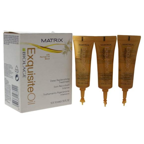 Biolage Exquisite Oil Deep Replenishing Treatment by Matrix for Unisex - 10x10 ml Treatment Pack of 3